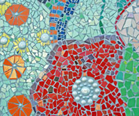 Detail Mosaic Mural