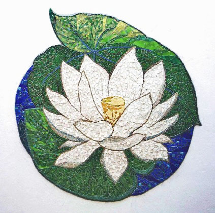 lotus mosaic create mosaic. Black Bedroom Furniture Sets. Home Design Ideas