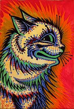 louis-wain-electric-cat-schizophrenic-art