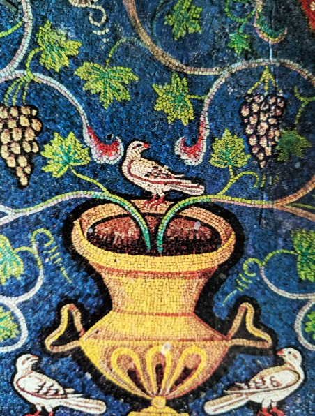 Vine and Dove (detail), 5th century, San Vitale, Ravenna)
